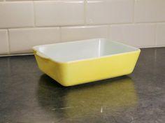 Pyrex Baking Dish Pyrex Casserole Dish Yellow by ClockworkRummage
