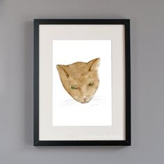 Totem kitteh 2 cat artprint