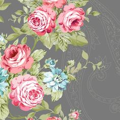 like this fabric - roses Vintage Diy, Vintage Flowers, Vintage Paper, Vintage Floral, Fabric Wallpaper, Pattern Wallpaper, Vintage Fabrics, Vintage Patterns, Floral Fabric