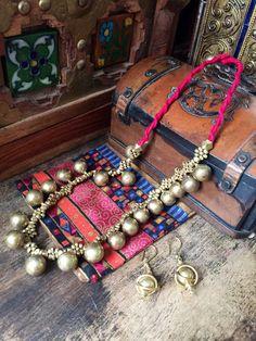 Gypsy tribal necklace - Brass -  Dokra necklace - Tribal  Necklace - Bijoux ethnique- Tribal Jewelry - Kuchi necklace by Omanie on Etsy
