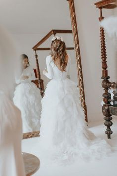 Gorgeous bride Lydia Elise Millen wore a wedding dress by Halfpenny London | Image by Wish Wish Weddings #WeddingIdeasDresses