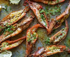 Butterflied prawns with turmeric, cumin, chilli, garlic and lime. Easy peasy…