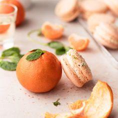 Mandarin Orange and Mint Macarons - cambrea bakes Orange Food Coloring, Gel Food Coloring, Mandarin Juice, Orange Buttercream, Blanched Almonds, Macaron Recipe, Almond Recipes, Macaroons, Food Print