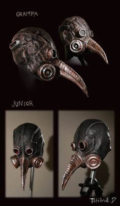 Plague masks by nastynoser
