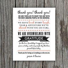 DIY Printable - Wedding Thank You Sign - Typography on Etsy, $15.00