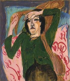 Ernst Ludwig Kirchner, Woman in a Green Blouse, 1913.Expressionismus in Deutschland