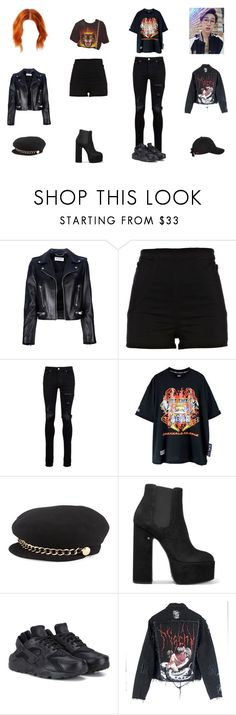 """Could You?"" by cherrysick on Polyvore featuring Yves Saint Laurent, River Island, AMIRI, Eugenia Kim, Laurence Dacade, NIKE y MISBHV"