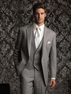 Allure Men by Jean Yves is an inspired collaboration between Jean Yves Formalwear and Allure Bridal. The Heather Grey 'Allure' tuxedo was expertly and aptly created in response to the growing demand f Slim Fit Tuxedo, Tuxedo Suit, Tuxedo For Men, Black Tuxedo, Wedding Men, Wedding Suits, Wedding Tuxedos, Grey Tuxedo Wedding, Wedding Ideas