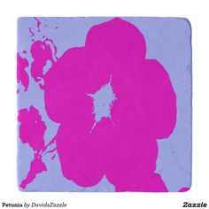 Petunia Heat Trivet  Available on more products! Type in the name of the design in the search bar on my Zazzle Products Page. Thanks for looking!  #flower #floral #abstract #art #zazzle #buy #sale #pattern #print #all #over #pink #blue #nature #planet #earth #trivet #heat #hot #pad #cooking #oven #ware #home #decor