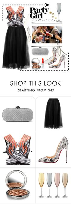 """Party Girl"" by conch-lady ❤ liked on Polyvore featuring Bottega Veneta, Valentino, Alexander Wang, Christian Louboutin, By Terry, LSA International, danceparty and partygirl"