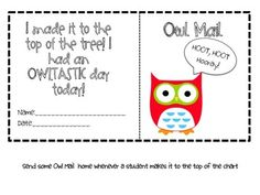 Owl-y Behavior Clip Chart