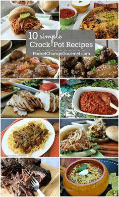 10 Simple Crock-Pot Recipes on PocketChangeGourmet.com