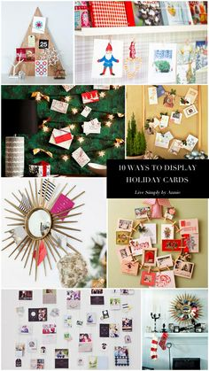 10 Ways to display holiday cards