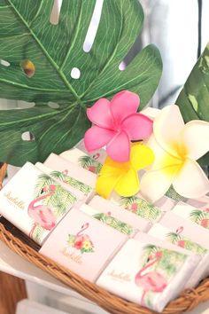 Hawaiian Flamingo Birthday Party Ideas | Photo 5 of 13 | Catch My Party