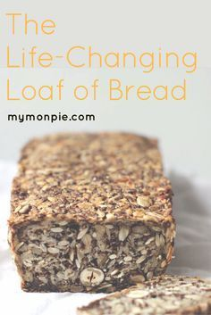 healthy bread A perfect mix of high protein, high fibre, anti-inflammatory, pro-digestion and great tasting goodness rolled into one. This bread will change your life! Protein Bread, Low Carb Bread, Protein Brownies, Protein Pancakes, Protein Bars, Baking Recipes, Whole Food Recipes, Vegan Recipes, Healthy Bread Recipes