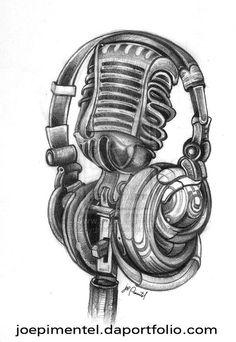 oldschool microphone tattoo designs - Google Search