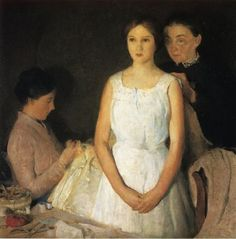 Charles Webster Hawthorne (American Painter, 1872-1930) The Trousseau 1910 - Pictify - your social art network