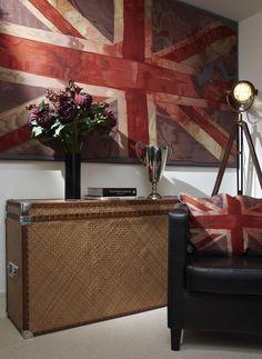 Vivienne Westwood Union Jacks Studio Living, Home Studio, Remember The Titans, Design Within Reach, Union Jack, Humble Abode, Living Room Bedroom, Big And Beautiful, Restoration Hardware