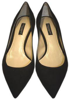 Black Suede Kitten Heels - Dolce & Gabbana  http://www.room7.co.uk/what-s-new/dolce-gabbana-black-pump.html