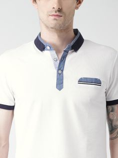 Buy Metersbonwe White Polo T Shirt - - Apparel for Men Polo Vest, Polo Rugby Shirt, Mens Polo T Shirts, Boys T Shirts, Best White Jeans, Mens Golf Fashion, Polo Shirt Design, Polo Shirt Outfits, Well Dressed Men