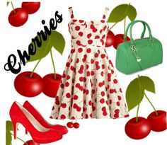"""""""Cherries"""" by des4etoo ❤ liked on Polyvore"""