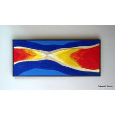 Contemporary wall art Abstract Southwest modern black frame. Blue,... ($175) ❤ liked on Polyvore featuring home, home decor, wall art, gold metal wall art, red metal wall art, metal leaf wall art, metal wall art and leaves wall art
