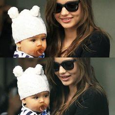 Miranda Kerr and baby Flynn Bloom