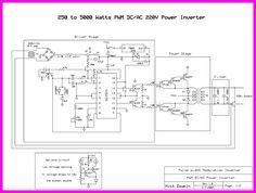 Inverter 5000W with PWM (Pulse Width Modulator) circuit