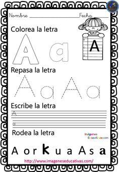 Completo cuaderno para practicar la preescritura y el trazo con el abecedario Solo tienes que imprimir, y dejarlo en el rincón dela grafomotricidad Para descargar las imágenes pincha en la imagen que quieres descargar,...