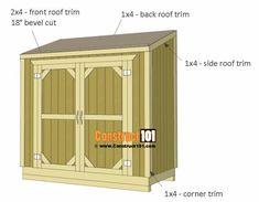 Lean to shed plans trim. #shedbuildingideas #gardenshedplans #sheddesigns #shedplans Diy Storage Shed Plans, Small Shed Plans, 10x12 Shed Plans, Lean To Shed Plans, Wood Storage Sheds, Wood Shed Plans, Free Shed Plans, Small Sheds, Shed Building Plans