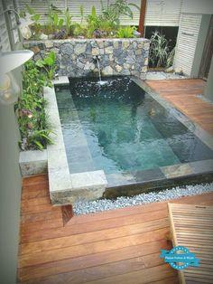 Swimming Pools Backyard, Swimming Pool Designs, Backyard Landscaping, Landscaping Ideas, Backyard Pool Designs, Small Backyard Patio, Backyard Ideas, Hot Tub Backyard, Backyard House