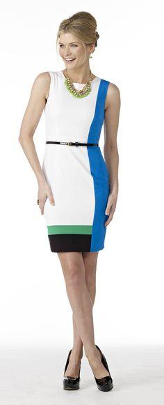 Color block dress #MadAboutSpring