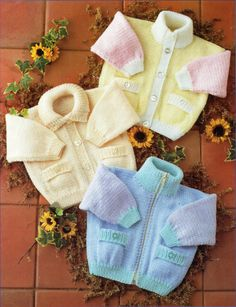 baby knitting pattern pdf instant download baby cardigans baby jackets high neck collar zipper premature newborn 12-24 inch DK / 8ply by Minihobo on Etsy