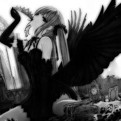 Dark Anime Girl, Kawaii Anime Girl, Manga Girl, Anime Art Girl, Cute Anime Profile Pictures, Manga Pictures, Icons Girls, Anime Monochrome, Gothic Anime