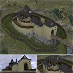 Contemporary model of the Kozí Hrádek castle.