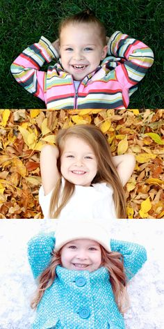Take a pic for every season and make it into a collage! just a great idea!