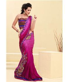 - Lehenga Style Saree Crafted By Fashion Hi Fashion, Fashion Books, Lehenga Style Saree, Pink Lehenga, Sari, Indian Bridal Wear, Indian Wear, Trendy Sarees, Costumes For Women