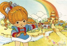 Welcome to Rainbow Land. Old School Cartoons, 90s Cartoons, Love Rainbow, Rainbow Colors, Rainbow Birthday Party, Favorite Cartoon Character, Old Anime, Rainbow Brite, Nostalgia
