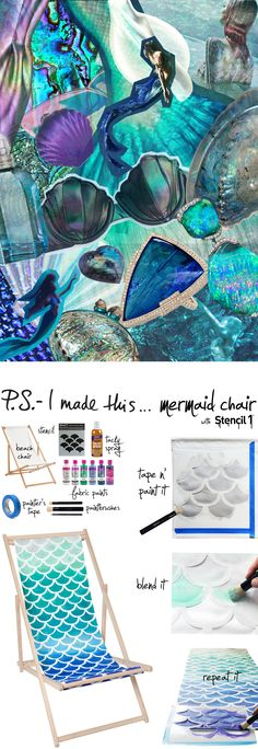 P.S.-I made this...Mermaid Chair with @Stencil1 #PSIMADETHIS #DIY