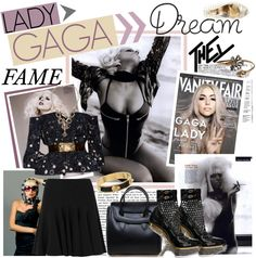 """""""LADY Gaga & FAME"""" by fashiontake-out on Polyvore"""