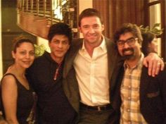 with Gauri and looks like Hugh Jackman?