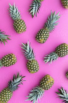 Pineapple background by Ruth Black for Stocksy United