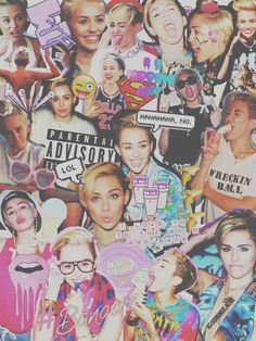 miley cyrus, Collage, and miley image