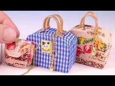 DIY Miniature Suitcase and Handbag - YouTube