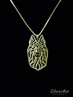 Belgian Tervuren  Gold pendant and necklace