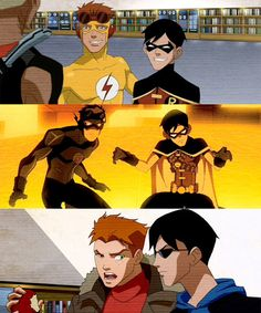 Robin and Kid Flash I live their friendship it's the best thing in the whole world
