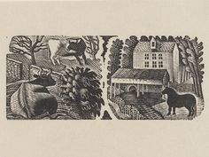 Eric Ravilious  -  Country Walks, 1936,Wood-engraving on paper