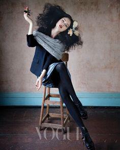 """Legend of Fall"" | Model: Coco Rocha, Photographer: Tony Kim, Vogue Korea, October 2009"