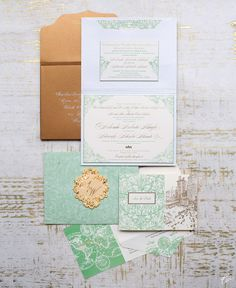 perfect wedding palette honey dew, gold, silver. pewter