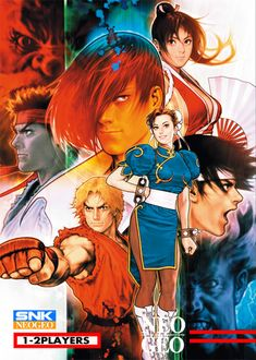 """From Street Fighter, King of Fighters, SNK Vs. Capcom, Resident Evil to Marvel Vs. The most comprehensive look at the outstanding career of master artist Toshiaki """"Shinkiro"""" Mori. Street Fighter 1, Street Fighter Tekken, Street Fighter Characters, Capcom Vs Snk, Cosplay Games, Shiranui Mai, Snk King Of Fighters, Art Of Fighting, Fighting Games"""